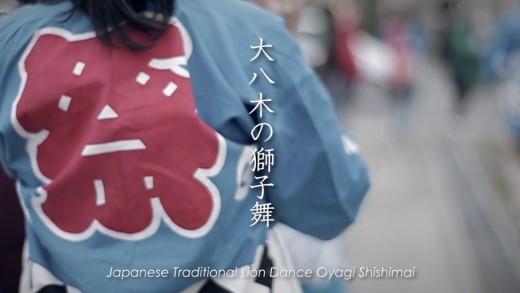Japanese Traditional Lion Dance Oyagi Shishimai