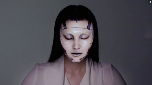 OMOTE / REAL-TIME FACE TRACKING & PROJECTION MAPPING